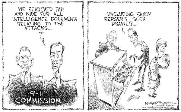 Nick Anderson  Nick Anderson's Editorial Cartoons 2004-04-07 security