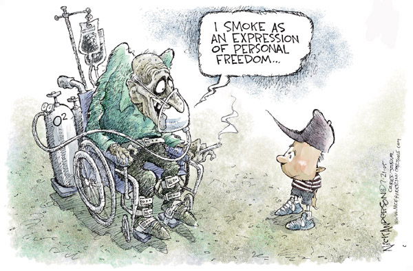 Cartoonist Nick Anderson  Nick Anderson's Editorial Cartoons 2005-07-21 smoking