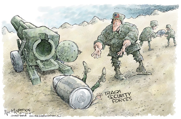 Nick Anderson  Nick Anderson's Editorial Cartoons 2005-07-24 military preparedness