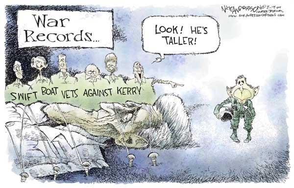 War Records …. Swift Boats Against Kerry.  Look!  Hes taller!