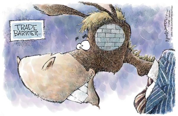 Nick Anderson  Nick Anderson's Editorial Cartoons 2005-08-04 tariff