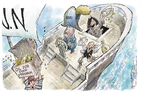 Nick Anderson  Nick Anderson's Editorial Cartoons 2005-08-10 corruption
