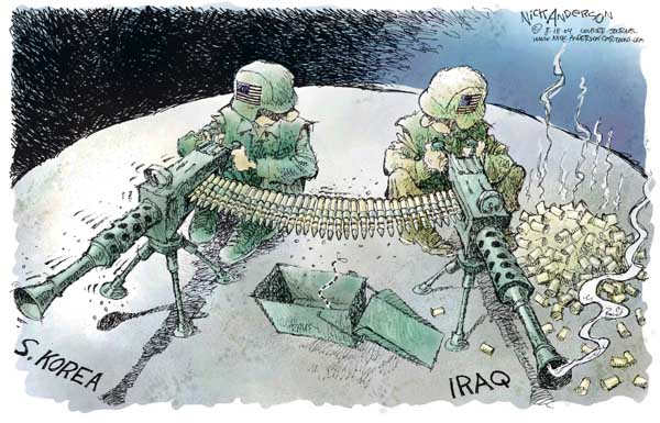 Nick Anderson  Nick Anderson's Editorial Cartoons 2004-08-18 military preparedness