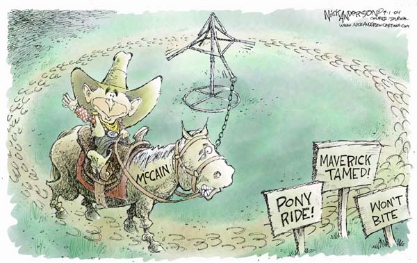 Cartoonist Nick Anderson  Nick Anderson's Editorial Cartoons 2004-09-01 presidential candidate