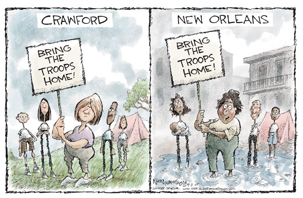 Cartoonist Nick Anderson  Nick Anderson's Editorial Cartoons 2005-09-02 disaster aftermath