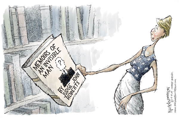 Nick Anderson  Nick Anderson's Editorial Cartoons 2005-09-09 Supreme Court appointment