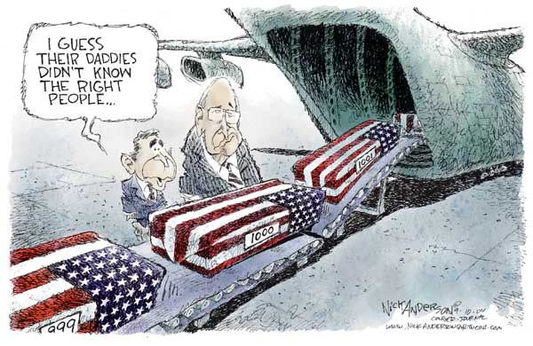 Nick Anderson  Nick Anderson's Editorial Cartoons 2004-09-10 military casualty