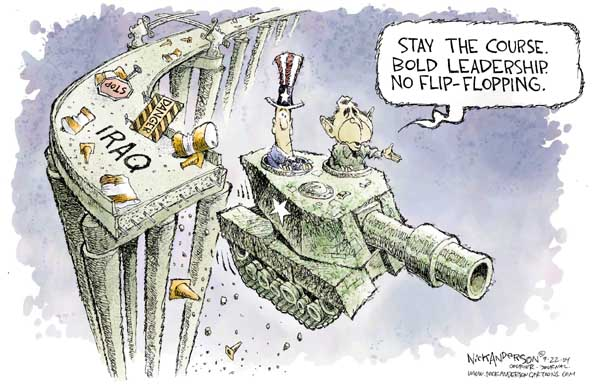 Cartoonist Nick Anderson  Nick Anderson's Editorial Cartoons 2004-09-22 presidential candidate