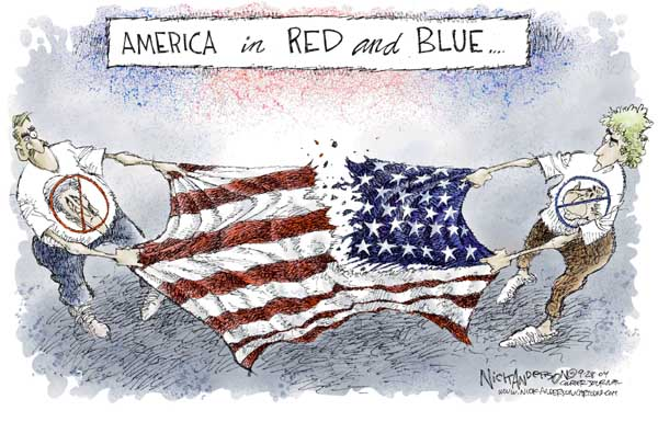 Cartoonist Nick Anderson  Nick Anderson's Editorial Cartoons 2004-09-28 presidential candidate