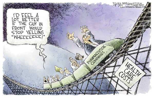Cartoonist Nick Anderson  Nick Anderson's Editorial Cartoons 2004-09-29 health care industry