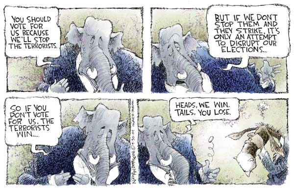 Cartoonist Nick Anderson  Nick Anderson's Editorial Cartoons 2004-09-30 presidential candidate