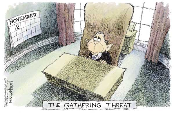Cartoonist Nick Anderson  Nick Anderson's Editorial Cartoons 2004-10-10 presidential candidate