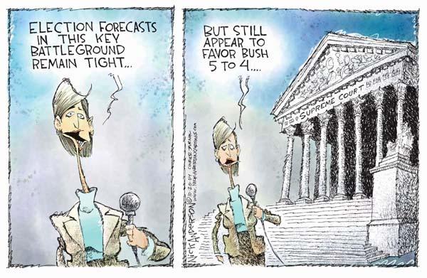 Nick Anderson  Nick Anderson's Editorial Cartoons 2004-10-20 2000 election