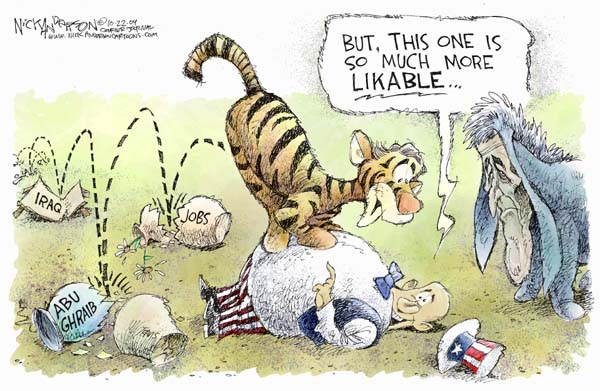 Cartoonist Nick Anderson  Nick Anderson's Editorial Cartoons 2004-10-22 presidential candidate