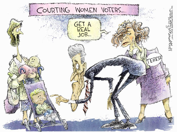 Cartoonist Nick Anderson  Nick Anderson's Editorial Cartoons 2004-10-24 2004 election