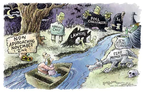 Nick Anderson  Nick Anderson's Editorial Cartoons 2004-10-28 2004 election