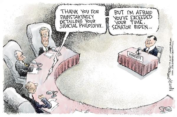 Cartoonist Nick Anderson  Nick Anderson's Editorial Cartoons 2005-09-16 judiciary