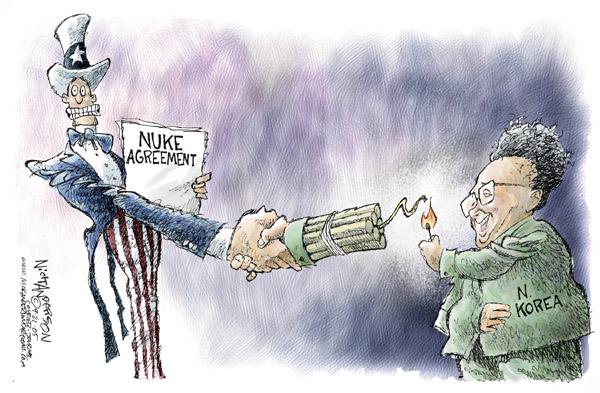 Cartoonist Nick Anderson  Nick Anderson's Editorial Cartoons 2005-09-21 weapon
