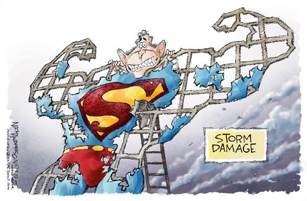 Nick Anderson  Nick Anderson's Editorial Cartoons 2005-09-22 damage