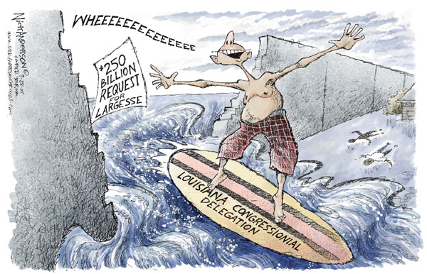 Cartoonist Nick Anderson  Nick Anderson's Editorial Cartoons 2005-09-28 broken