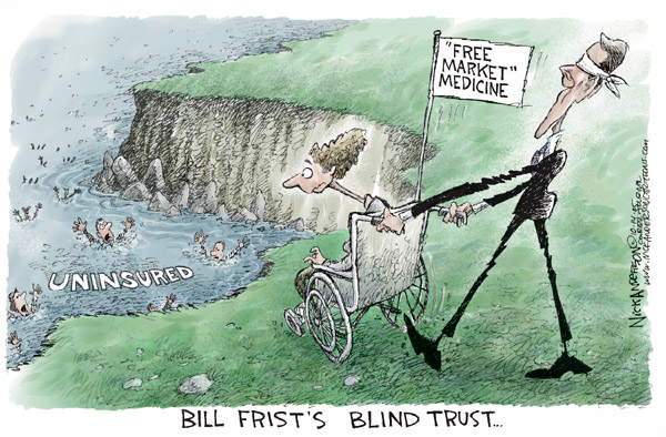 Cartoonist Nick Anderson  Nick Anderson's Editorial Cartoons 2005-10-14 health insurance market