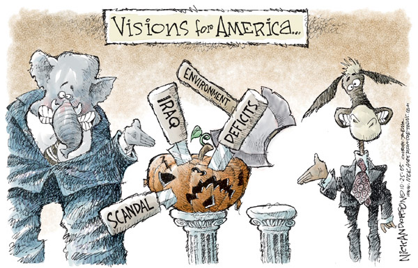 Cartoonist Nick Anderson  Nick Anderson's Editorial Cartoons 2005-10-25 issue policy