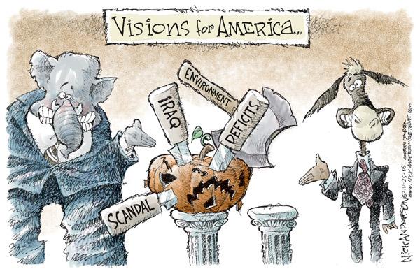 Cartoonist Nick Anderson  Nick Anderson's Editorial Cartoons 2005-10-25 political party