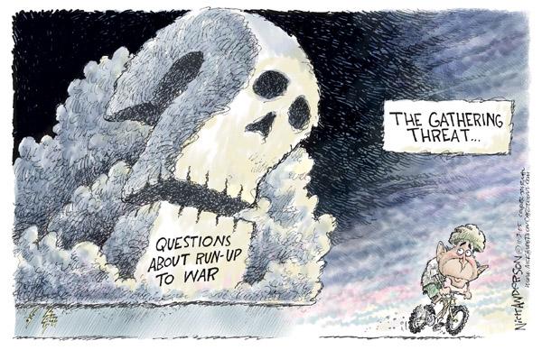 Cartoonist Nick Anderson  Nick Anderson's Editorial Cartoons 2005-11-03 weapon
