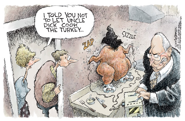Cartoonist Nick Anderson  Nick Anderson's Editorial Cartoons 2005-11-23 cook Thanksgiving