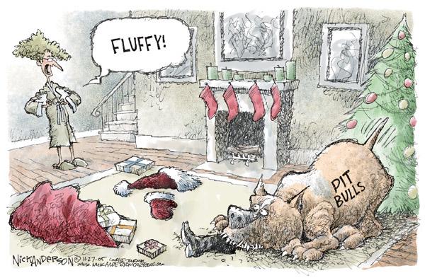 Cartoonist Nick Anderson  Nick Anderson's Editorial Cartoons 2005-11-27 Christmas gift