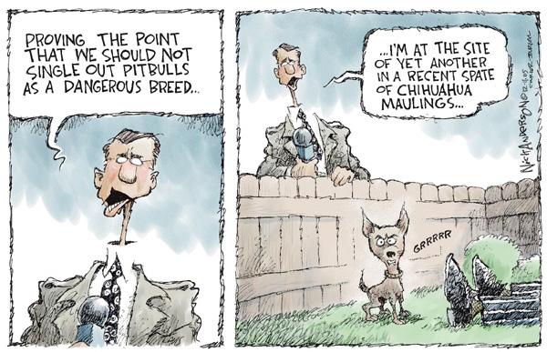 Nick Anderson  Nick Anderson's Editorial Cartoons 2005-12-11 dangerous