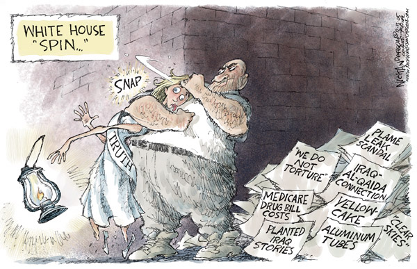 Cartoonist Nick Anderson  Nick Anderson's Editorial Cartoons 2005-12-13 torture report