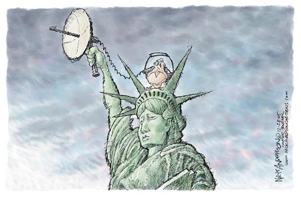 Nick Anderson  Nick Anderson's Editorial Cartoons 2005-12-28 presidential authority