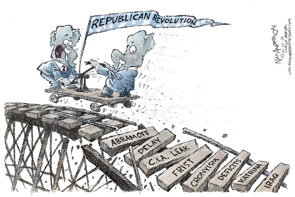 Cartoonist Nick Anderson  Nick Anderson's Editorial Cartoons 2006-01-05 disaster aftermath