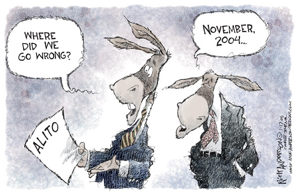 Cartoonist Nick Anderson  Nick Anderson's Editorial Cartoons 2006-01-17 political party