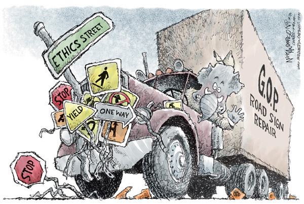 Cartoonist Nick Anderson  Nick Anderson's Editorial Cartoons 2006-01-19 stop