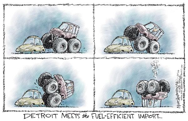 Cartoonist Nick Anderson  Nick Anderson's Editorial Cartoons 2006-01-25 automotive