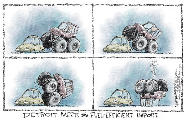 Cartoonist Nick Anderson  Nick Anderson's Editorial Cartoons 2006-01-25 meet