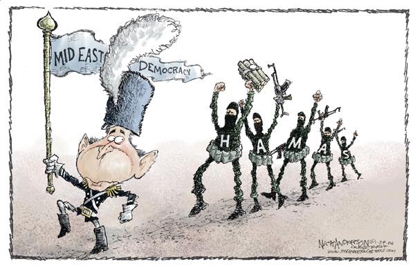 Cartoonist Nick Anderson  Nick Anderson's Editorial Cartoons 2006-01-29 Palestinian