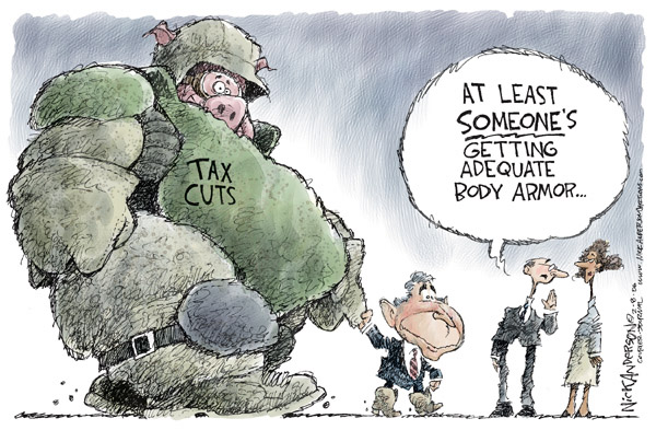 Nick Anderson  Nick Anderson's Editorial Cartoons 2006-02-08 military spending