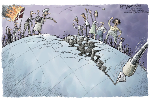 Cartoonist Nick Anderson  Nick Anderson's Editorial Cartoons 2006-02-10 freedom