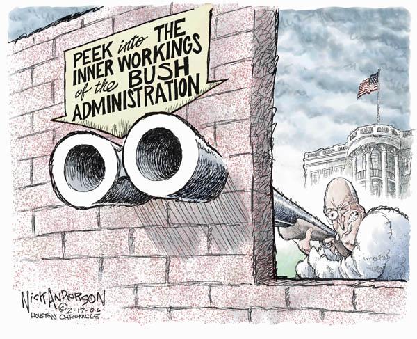 Cartoonist Nick Anderson  Nick Anderson's Editorial Cartoons 2006-02-17 gunfire