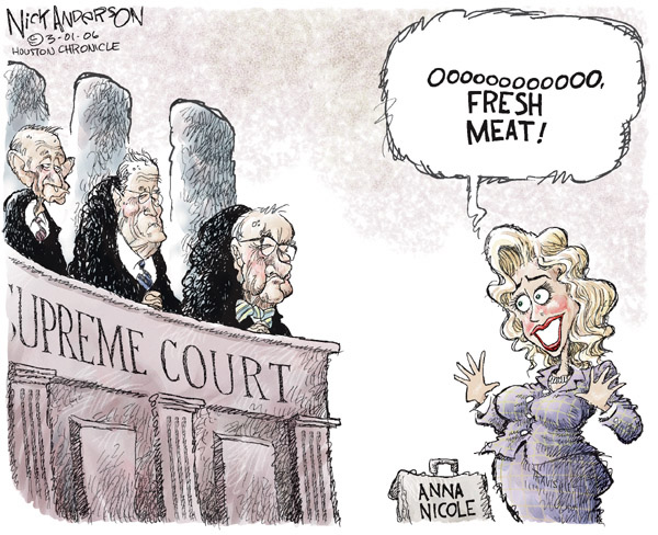 Cartoonist Nick Anderson  Nick Anderson's Editorial Cartoons 2006-03-01 federal court
