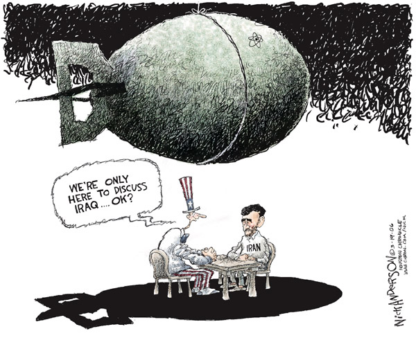 Nick Anderson  Nick Anderson's Editorial Cartoons 2006-03-19 Iran Iraq