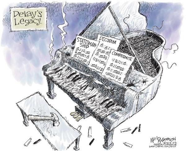 Cartoonist Nick Anderson  Nick Anderson's Editorial Cartoons 2006-04-06 delay