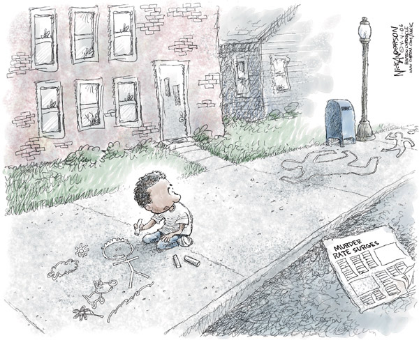 Cartoonist Nick Anderson  Nick Anderson's Editorial Cartoons 2006-04-07 murder