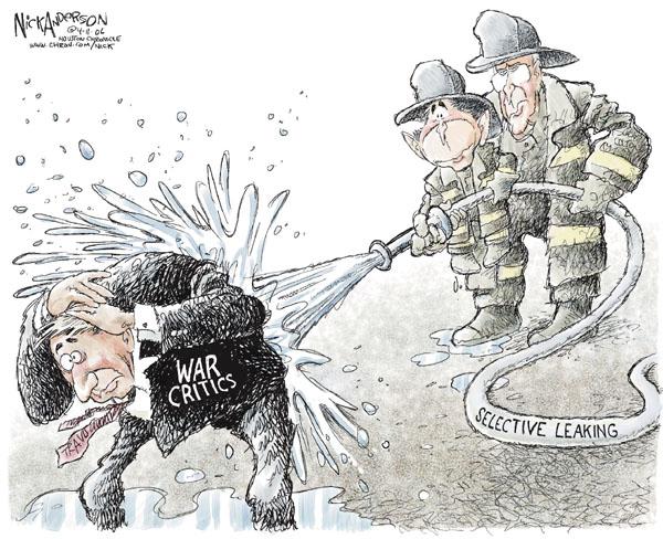 Cartoonist Nick Anderson  Nick Anderson's Editorial Cartoons 2006-04-11 Dick Cheney Iraq