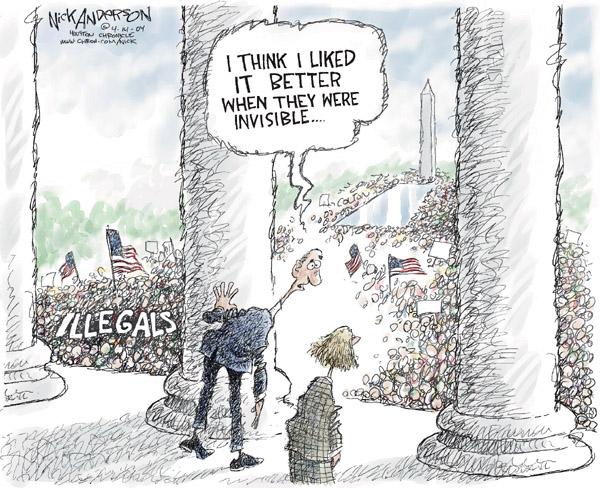 Cartoonist Nick Anderson  Nick Anderson's Editorial Cartoons 2006-04-14 march