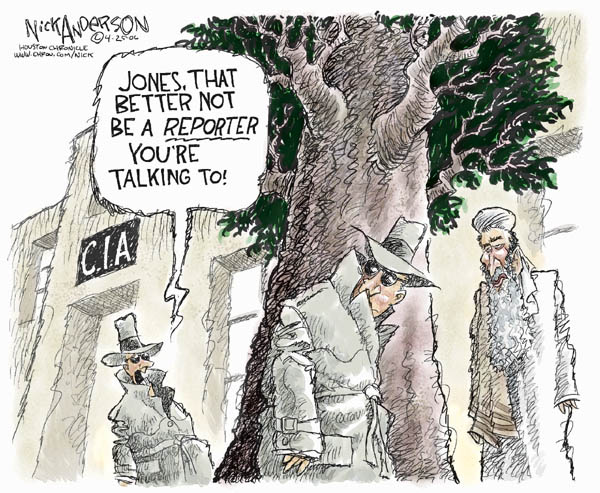 Cartoonist Nick Anderson  Nick Anderson's Editorial Cartoons 2006-04-25 CIA leak investigation