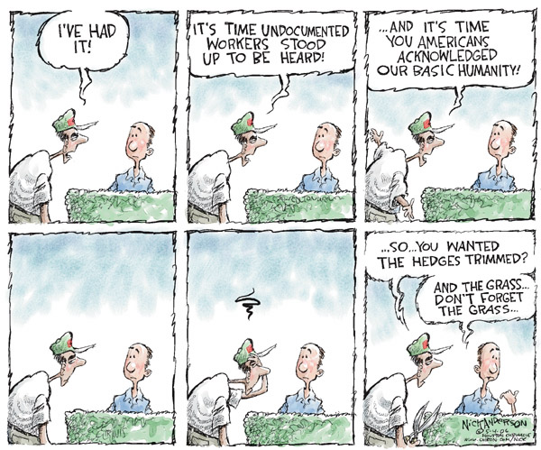 Nick Anderson  Nick Anderson's Editorial Cartoons 2006-05-04 immigration